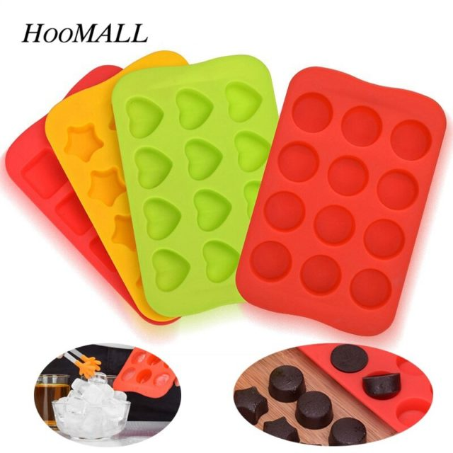 12 Cube Ice Cube Trays Square Silicone Ice Cube Mold Ice Tray Freezer Easy Release Ice Jelly Pudding Maker Mold Bar Kitchen Tool
