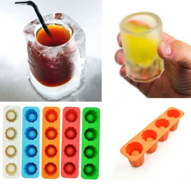 Ice Cube Tray Mold Ice Shot Glass Mold Makes Shot Glasses Ice Mould Novelty Gifts Ice Tray Summer Drinking Tool