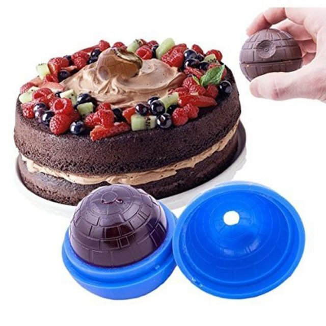 Silicone Ice Cream mold Creative Wars Death Star Round Ball Ice Cube Mold Tray Desert Sphere Mould DIY Cocktail Forma De Gelo