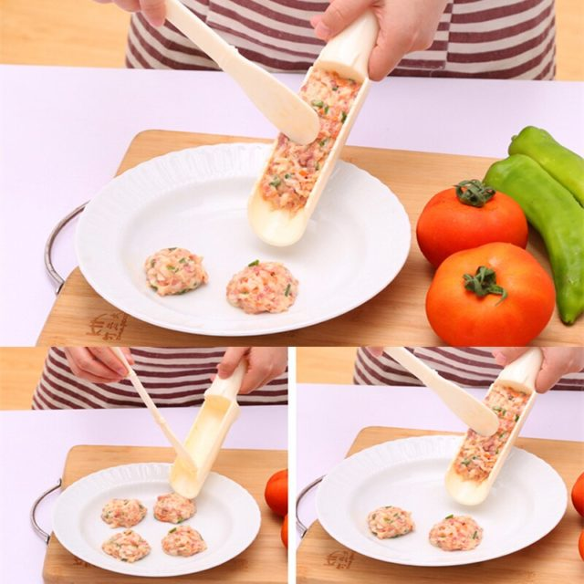 2Pcs/Set DIY Convenient Meatball Maker Useful Pattie Fish Beaf Meat Balls Burger Sets Kitchen Cooking Tools Gadgets Accessories
