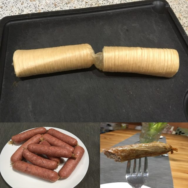 15m*45mm Sausage Packaging Tools Guts Casing for Sausage Maker Machine Hot Dog Hamburger Cooking Tools Inedible Casings