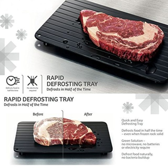 2020 Fast Defrosting Tray Thaw Frozen Food Meat Fruit Quick Defrosting Plate Board Defrost Kitchen Gadget Tool