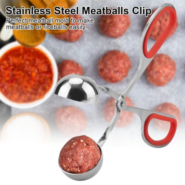 New Stainless Steel Practical Meat balls Clip Non-sticky Meatballs Rice Balls Maker Clip Mold Kitchen Tool Gadgets Accessories