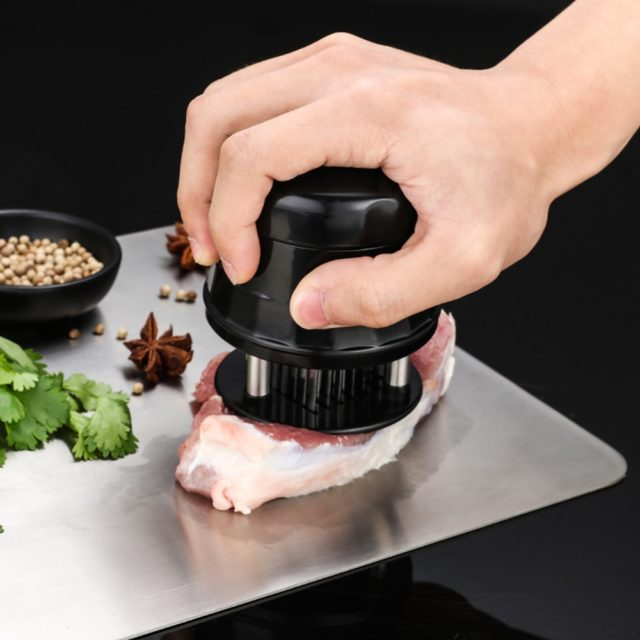 Professional Meat Tenderizer Needle With 56 Stainless Steel Blades Kitchen Cooking Tools Tender Meat Hammer For Beef Steak