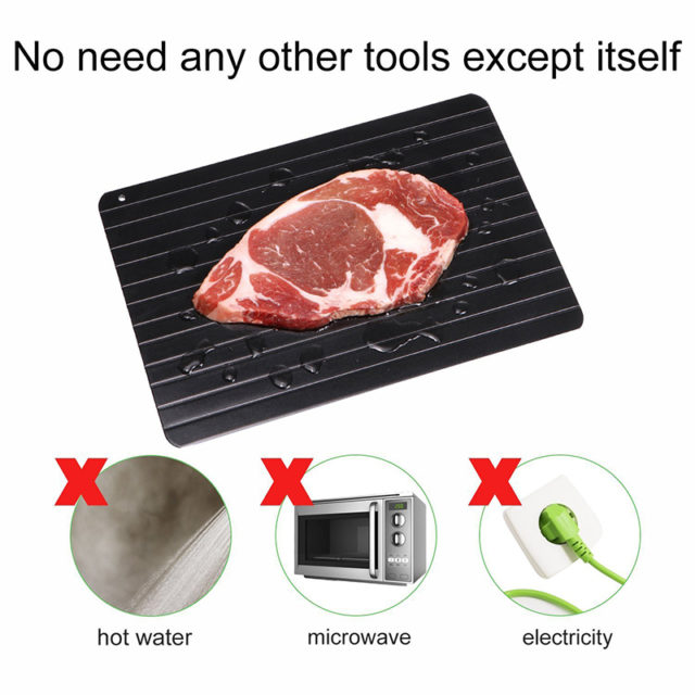 2019 New Fast Defrosting Tray Thaw Frozen Food Meat Fruit Quick Defrosting Plate Board Defrost Practical Kitchen Gadget Tools