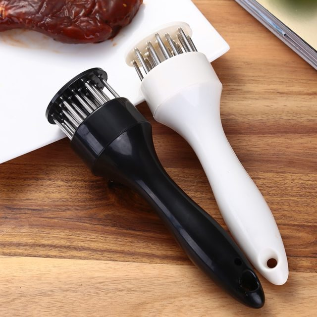 Useful Meat Tenderizer Beef Needle Knife Device Kitchen Tool Ultra Sharp Needle Stainless Steel Blades Steak Fish Tenderness