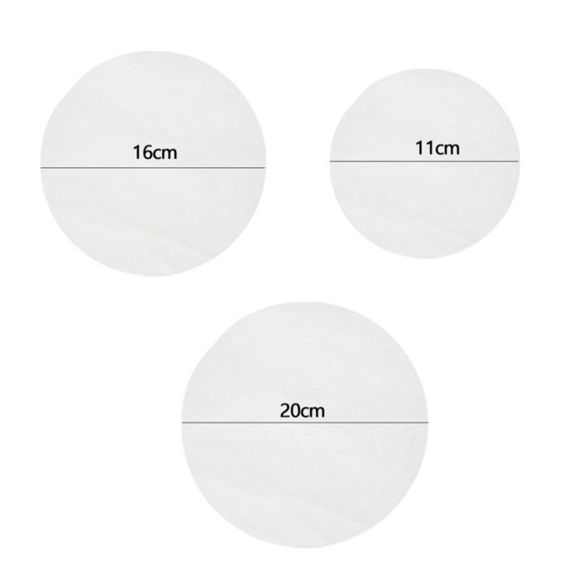 SEAAN New Baking Pastry Mat Pad Parchment Paper Unbleached Silicone Cookies Greaseproof Round Sheets Pizzas Non-stick Barbecue