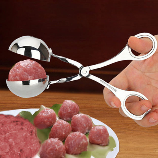 2 Size Optional Stainless Steel Meatball Clip DIY Rice Fish Ball Maker Kitchen Accessories