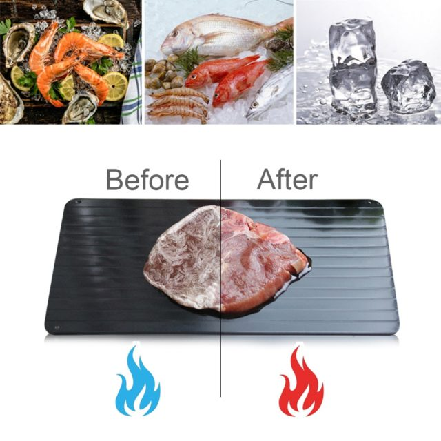 Defrosting Tray Fast Thawing Plate Household Kitchen Quick Thaw Tool Meat Frozen Food Fast Defrosting Chopping Board