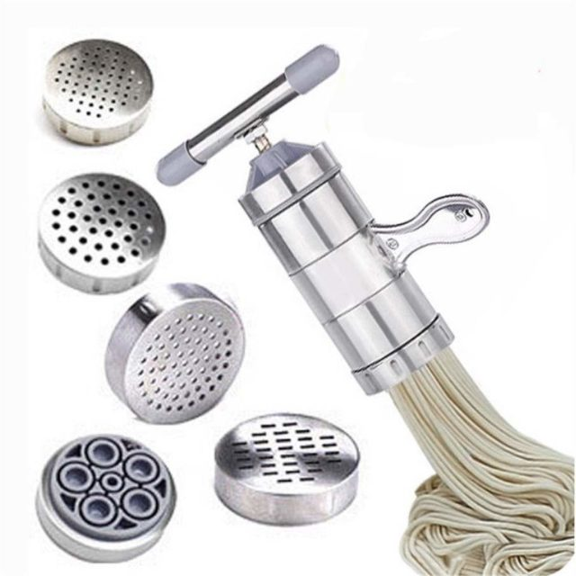 Manual stainless steel noodle pressing machine crank cutting machine fruit juicer cookware making spaghetti tools WF927230