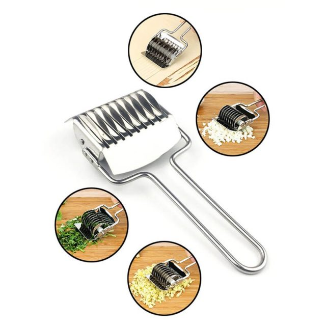 1PC Kitchen Gadgets Manual Section Spaetzle Makers Shallot Cutter Noodles Cut Knife Stainless Steel Pressing Machine