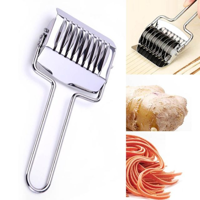 Stainless Steel 1PC Non-slip Handle Spaetzle Makers Pressing Machine  Shallot Cutter Kitchen Gadgets Manual Section