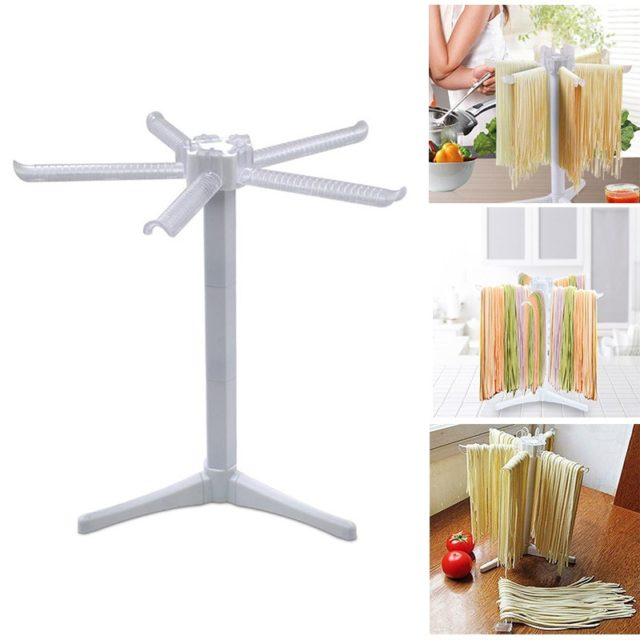 Plastic Practical Spaghetti Pasta Drying Rack Stand Noodles Hanging Holder Household Machine Holder Kitchen Collapsible Maker