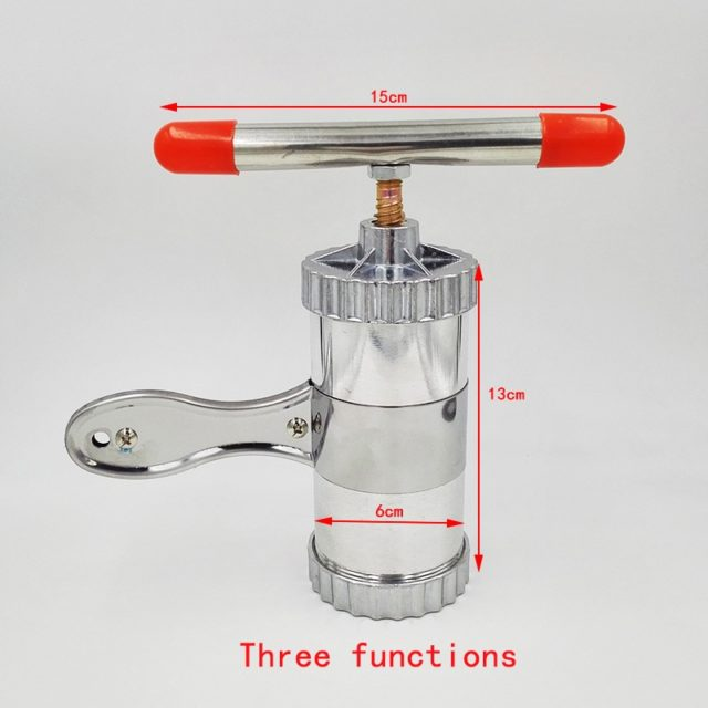 Stainless Steel Practical Handy Manual Kitchen Pasta Noodle Maker Spaghetti Press pates Machine With 3 Models