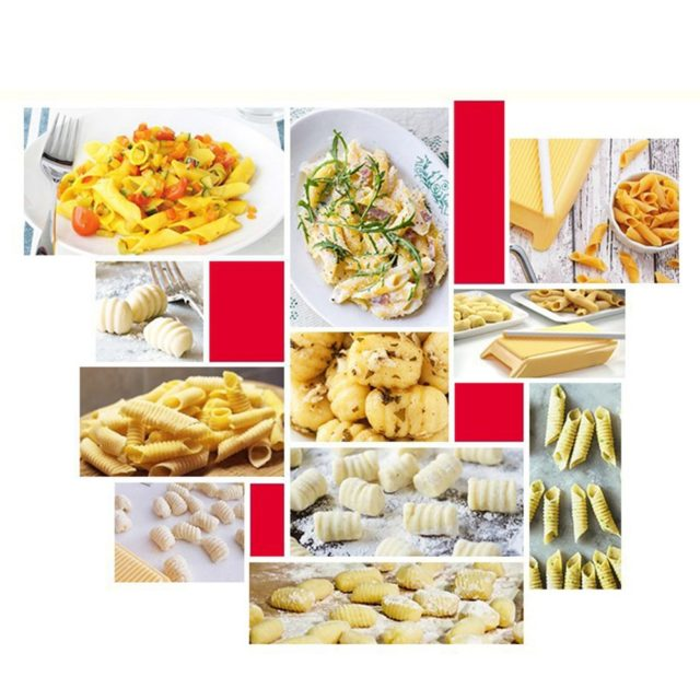 DIY Pasta Macaroni Plastic Board Mould Spaghetti Gnocchi Noodles Maker Dough Rolling Pin Baby Food Molds Stamps Kitchen Tool
