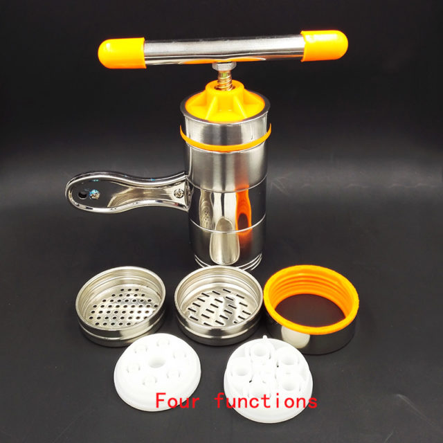 Manual Noodle Maker Kitchen Pasta Spaghetti Press pates Machine Vegetable Fruit Juicer Pressing Machine Stainless Steel