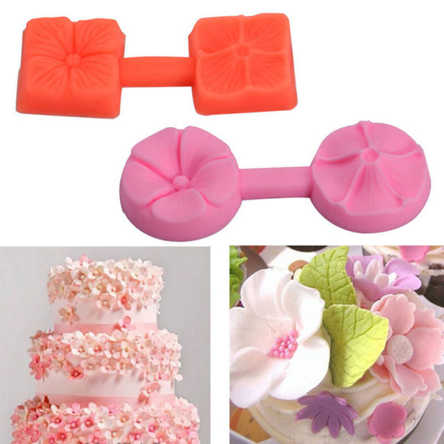 US STOCK Cute 3D Rose Flower Fondant Cake Chocolate Sugarcraft Mold Cutter Silicone Tools