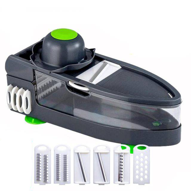 Vegetable Cutter With 6 Steel Blade Mandoline Slicer Potato Peeler Carrot Cheese Grater Kitchen Accessories Gyh