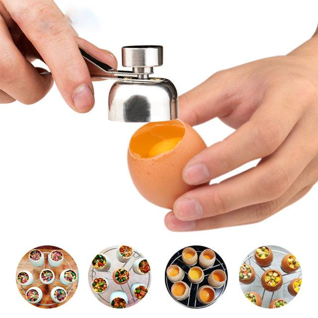 1 Pcs Metal Egg Scissors 304 Stainless Steel Topper Shell Cutter Opener Boiled Raw Open Creative Kitchen Tool