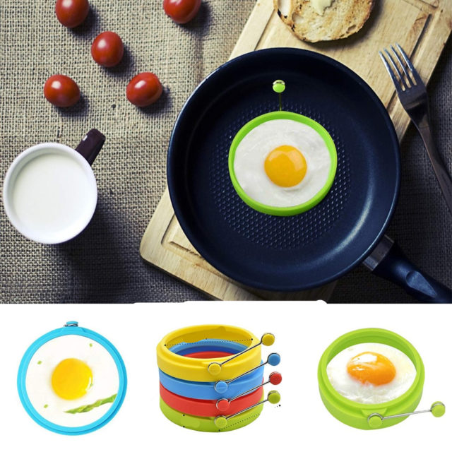 Silicone Round Egg Rings Fry Fried Poacher Mould Kitchen Cooking Tools Non-stick Pancake Mold