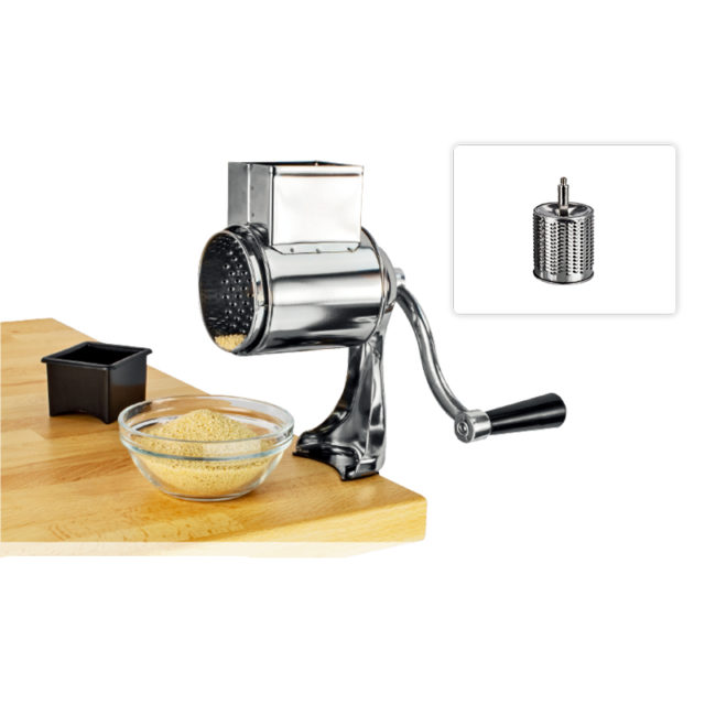 Rotary Cheese Grater Food Mills With 1 Drum Blade For Grating And Nut Grinder Grinding Nuts