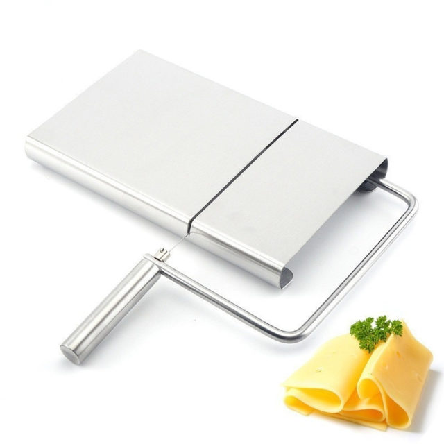Stainless Cheese Slicer Grater Section Butter Shredder Cutting Board Cloth Platform
